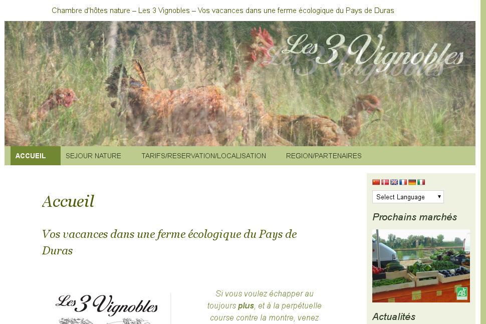 Création site internet Gite Aquitaine