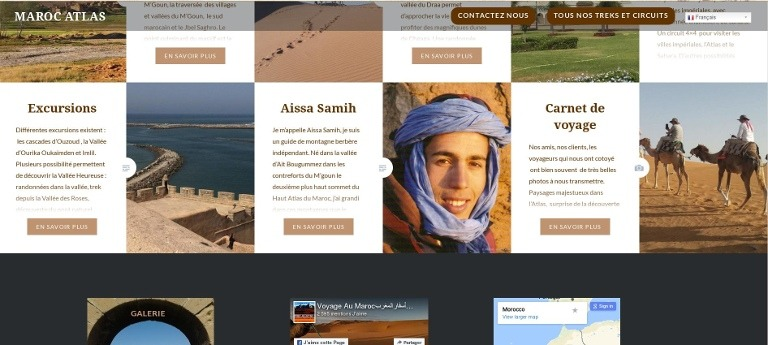 Créaton de site internet pour le Tourisme